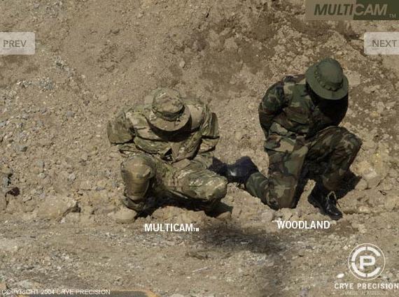 O padrão de camuflagem MultiCam Multicam-1