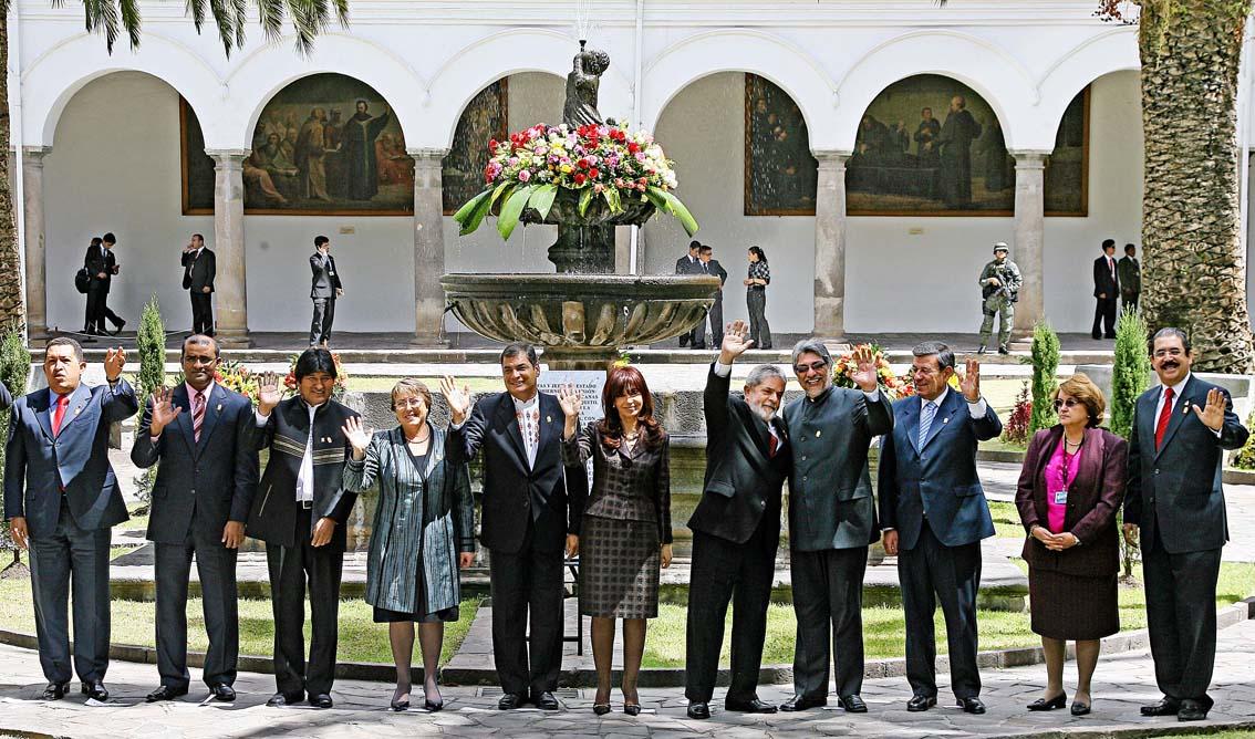 Presidentes 3 reuniao unasul quito - foto R Stuckert - Ag Brasil