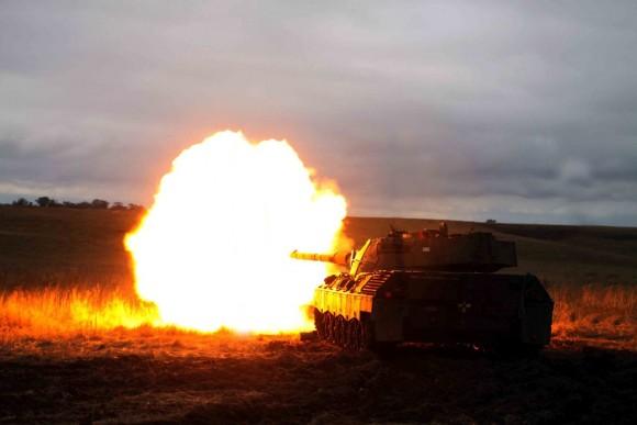Leopard I firing