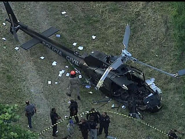 queda helicoptero policia civil RJ