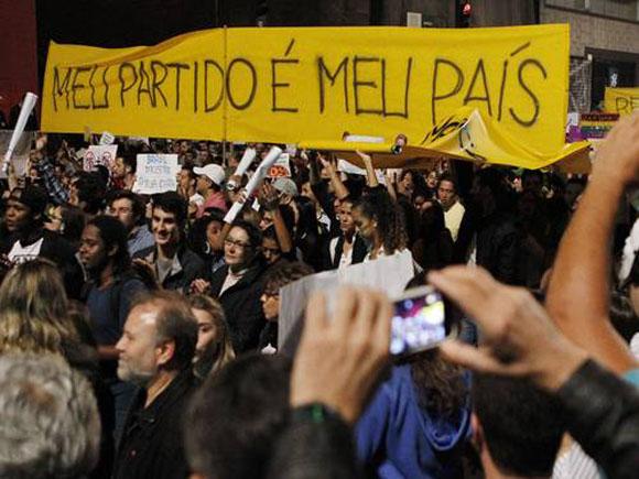 Foto manifestação av Paulista - foto M Filho - O Globo