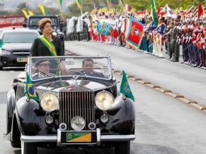 Presidente Dilma Rousseff em desfile de 7 de setembro de 2013 - foto Palácio do Planalto - R Stuckert