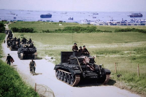 Dia D 70 anos - estrada - 1944 - foto via ibtimes