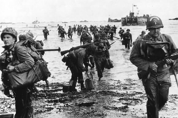 Dia D 70 anos - praia Omaha-1944 - foto via ibtimes