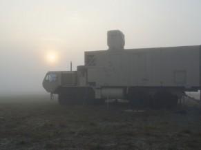 Demonstrador Laser HEL MD da Boeing destrói alvo encoberto - foto Boeing