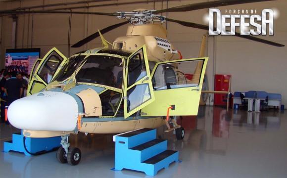 Helicóptero Pantera em modernização na Helibras - foto Nunão - Forças de Defesa