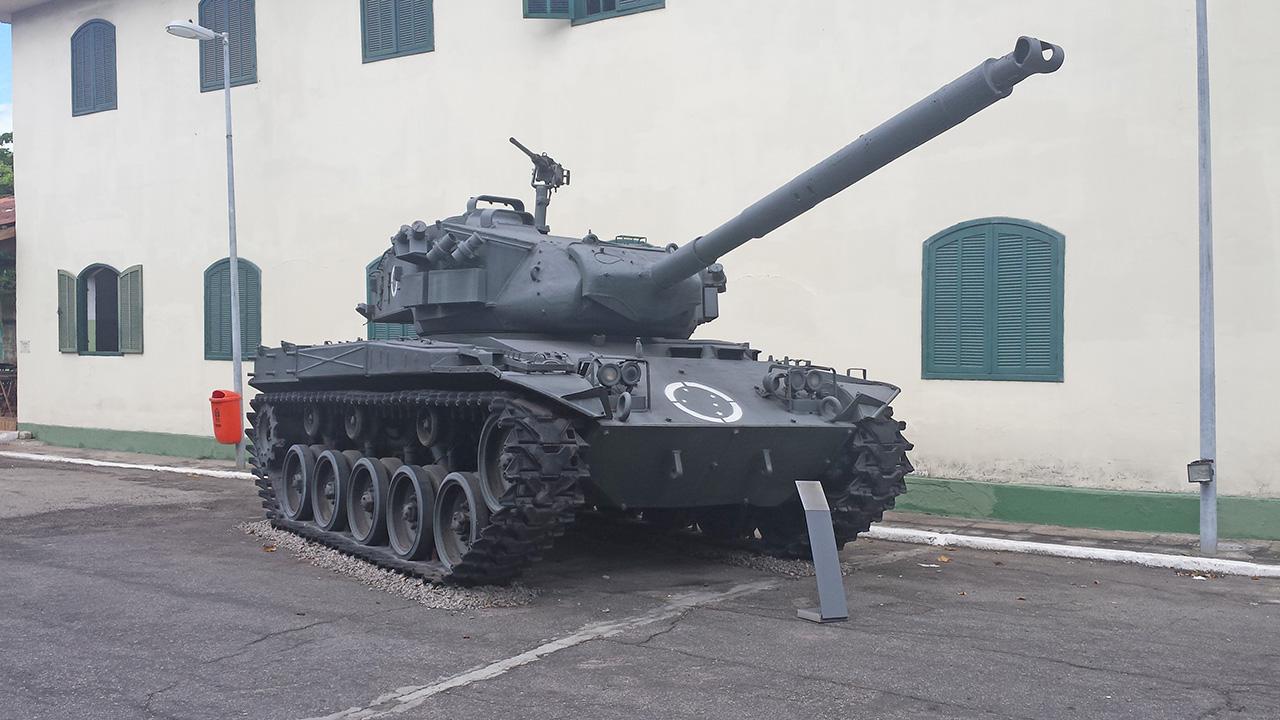 M-41C preservado no Museu Conde de Linhares no Rio de Janeiro