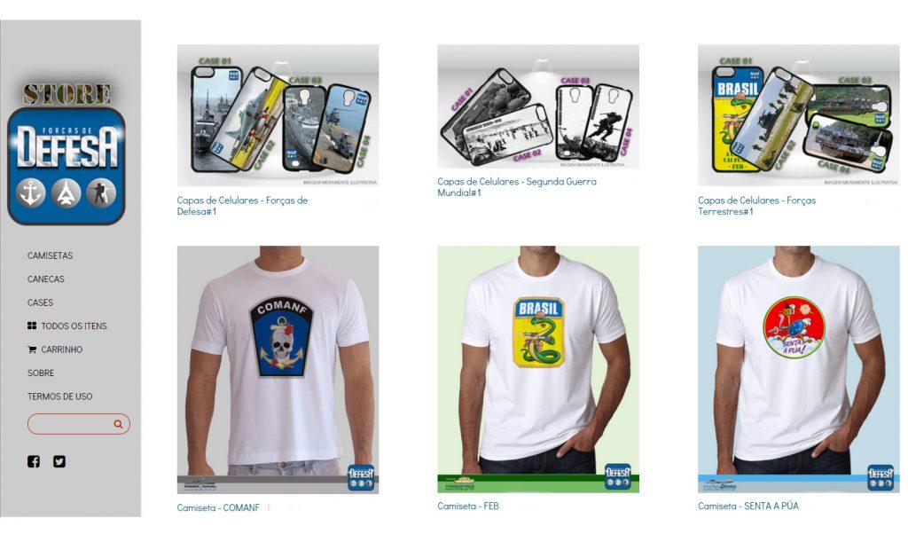 Loja online Defesa Store – www.defesastore.com.br