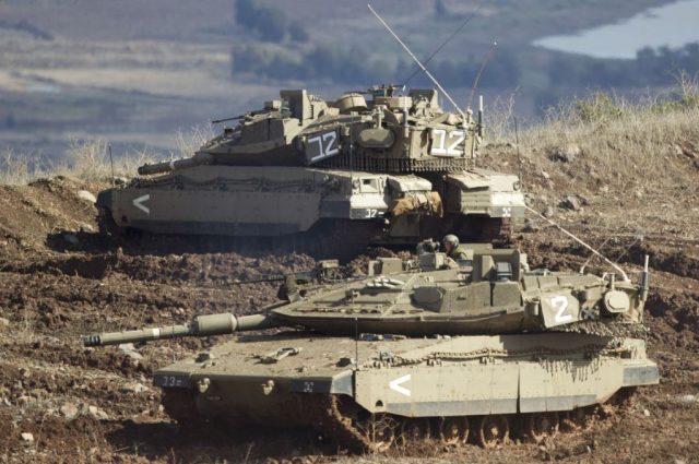 Tanques de Israel em Golan