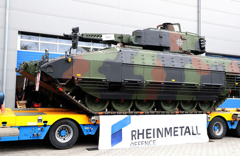 O 200º Veículo de Combate de Infantaria da Puma enviado para a Bundeswehr (foto) é também o 100º produzido pela Rheinmetall, co-proprietário da empresa de empreendimento conjunto que é a principal contratada do programa. (Foto de Rheinmetall)