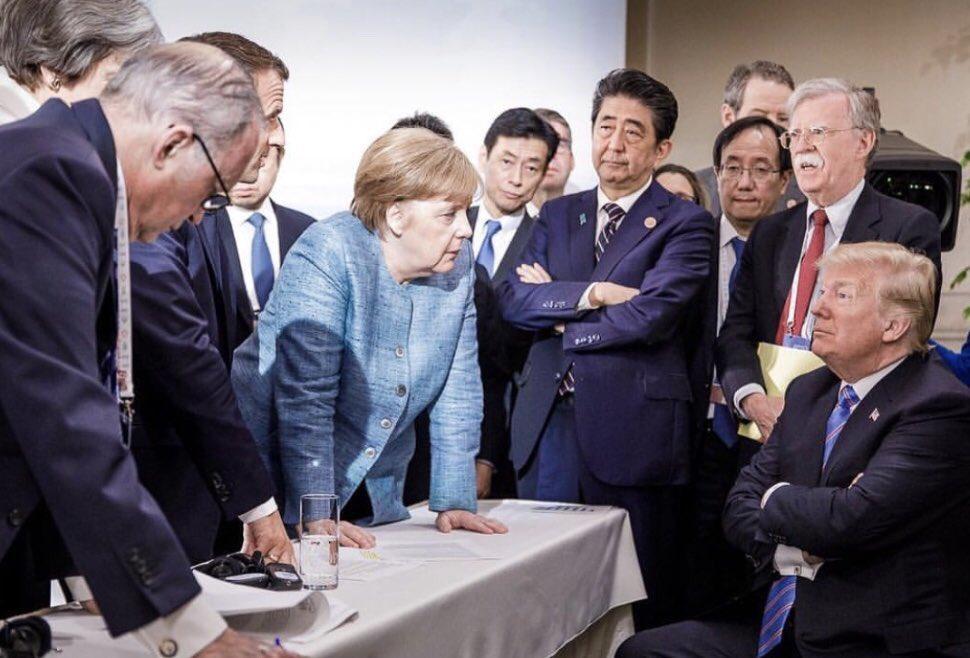 Trump cercado no G7