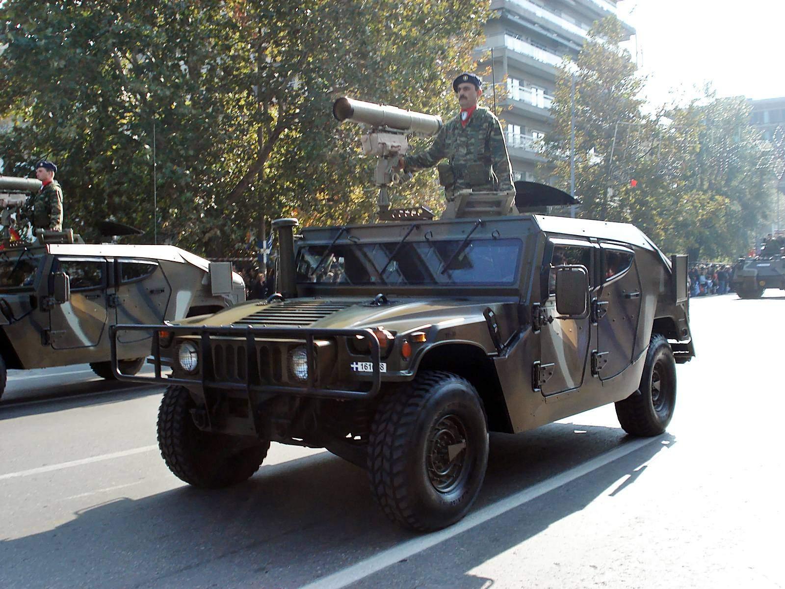 Humvee, em versão da firma israelense Plasam