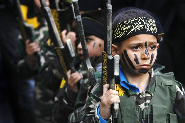 EPA young suporters of the Islamic Jihad in Gaza