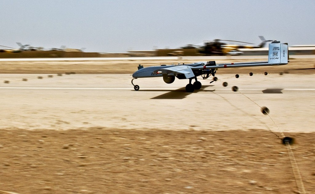 RQ-7 landing