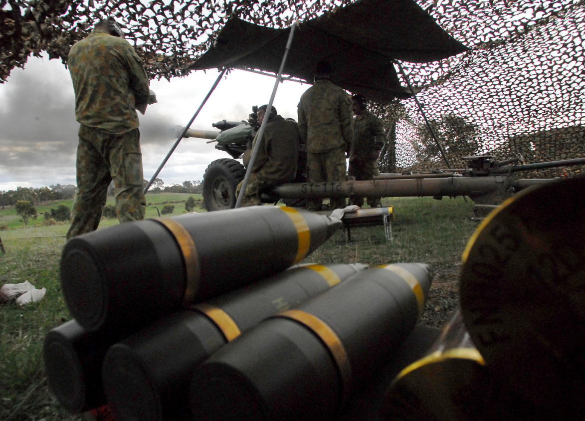 Artilharia na Chong Ju- foto MoD Australia