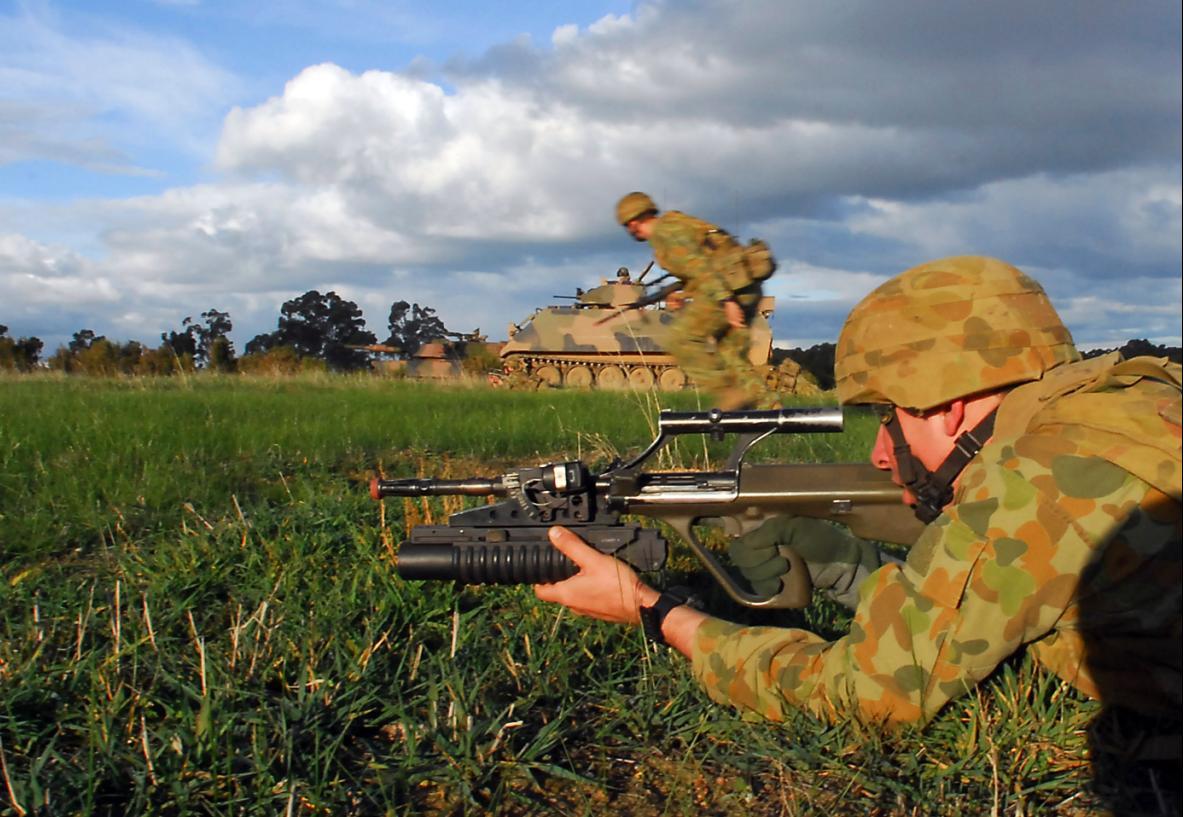 M113AS4 e tropas na Chong Ju- foto 2 MoD Australia