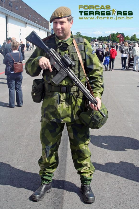 Soldado na Suécia