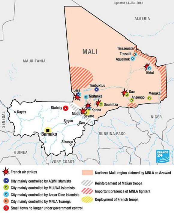 mali mapa bombardeios