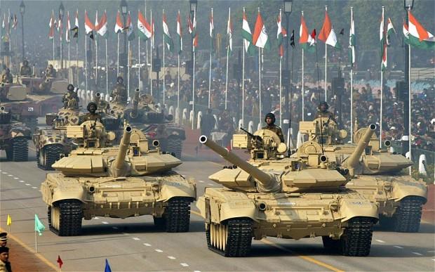 Exército Indiano em desfile