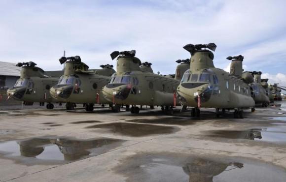 CH-47F novos de fábrica - foto US Army