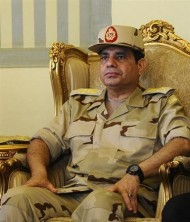 Chefe das Forças Armadas do Egito, Abdel Fattah al-Sisi, visto durante coletiva de imprensa no Cairo