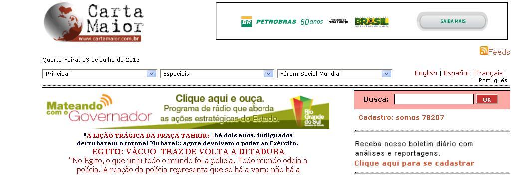 site Carta Maior