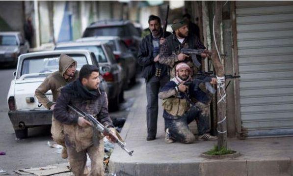 rebeldes sirios - foto AP