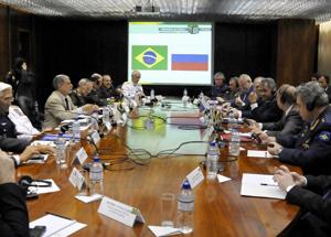 Reunião Brasil Rússia em Brasília - foto Ministério da Defesa