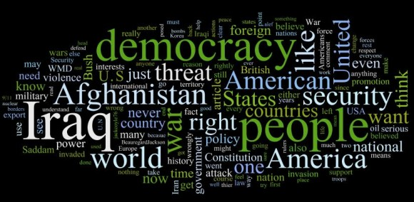 Guardian readers views on US foreign policy