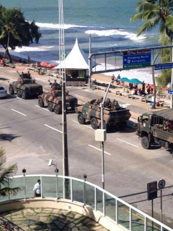 Exército nas ruas em Recife
