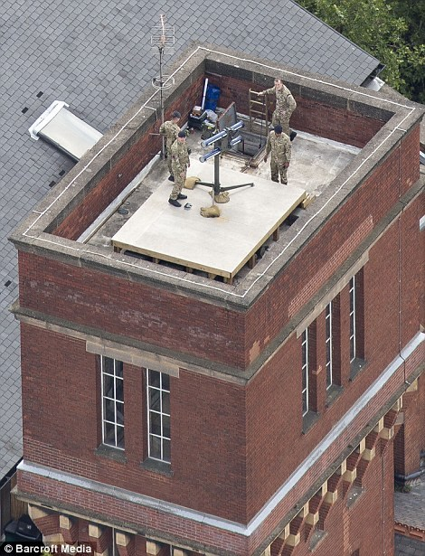 Lançador de míssil antiaéreo em Londres - 1