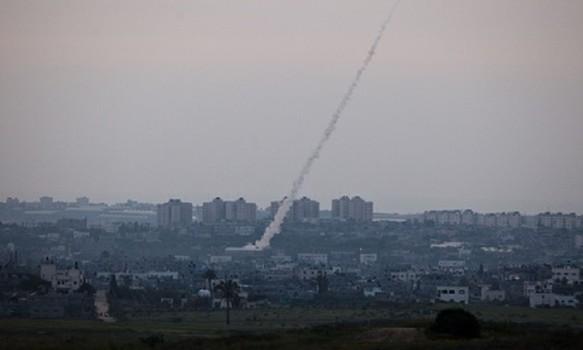 foguete disparado pelo Hamas