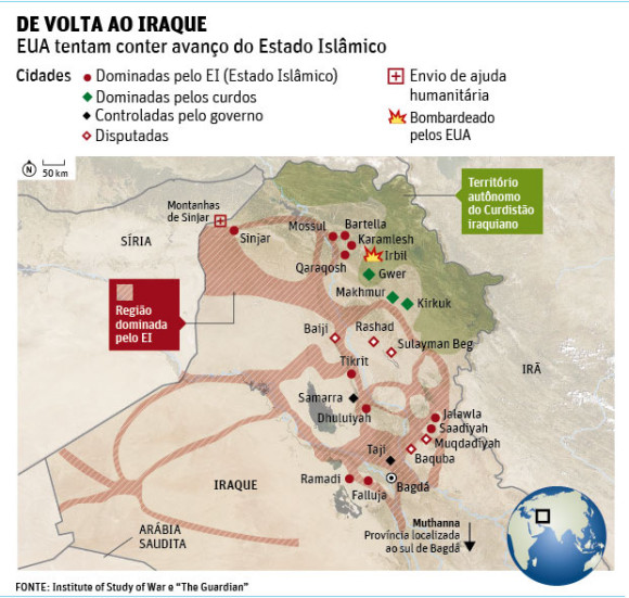 Mapa Iraque