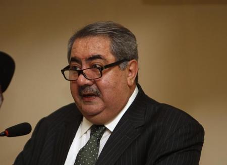 Chanceler do Iraque Hoshyar Zebari em Bagdá
