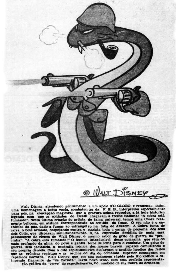 A cobra da FEB por Walt Disney