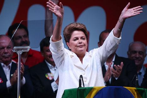 Dilma ganha segundo mandato