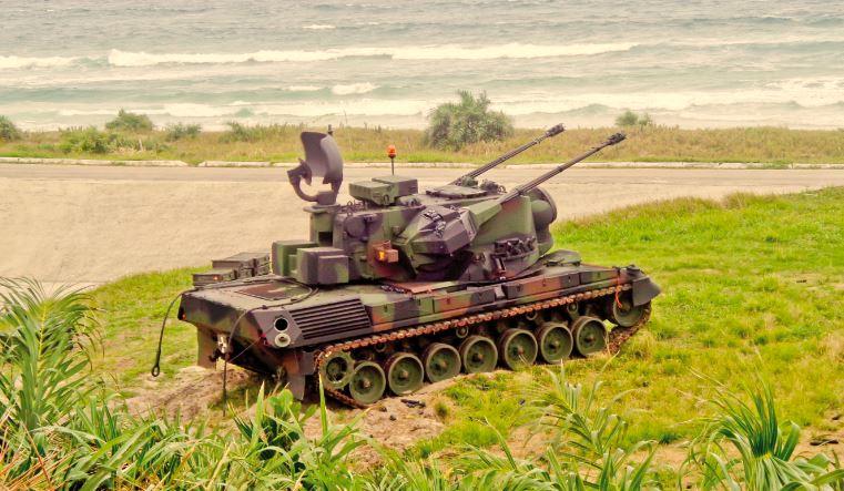 Viatura Blindada de Combate Antiaérea com canhões 35 mm Gepard