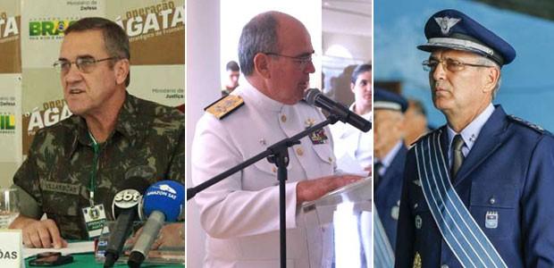 Novos comandantes Forças Armadas - Villas Boas - Leal Ferreira - Rossatto - fotos via G1