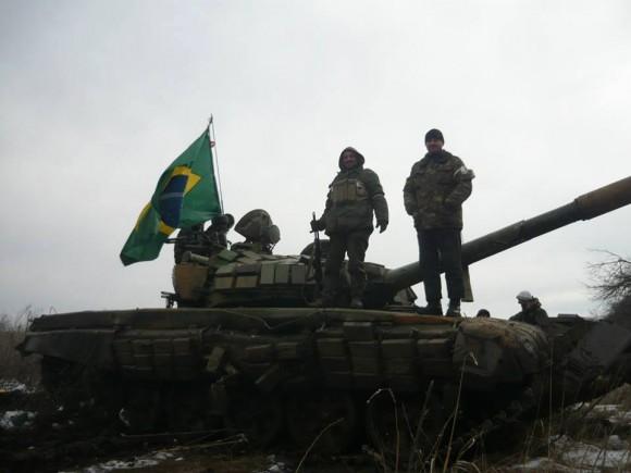 Brasileiros pró-separatistas na Ucrânia
