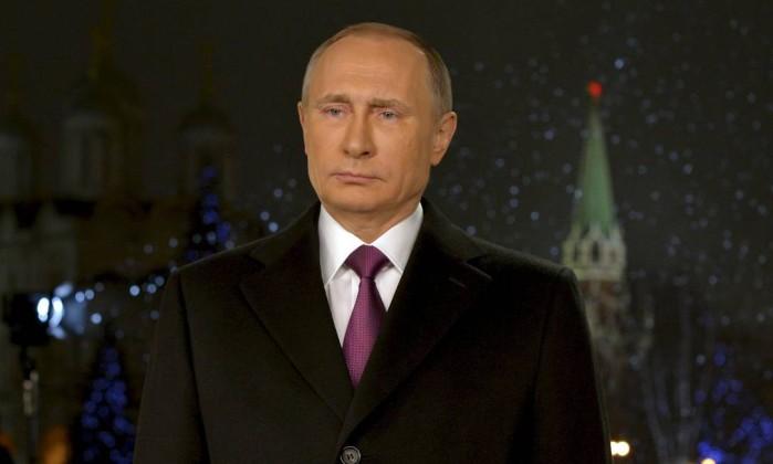 O presidente russo, Vladimir Putin, faz seu discurso anual de Ano Novo em Moscou