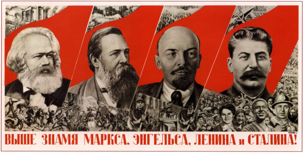 Marx, Engels, Lenin e Stalin