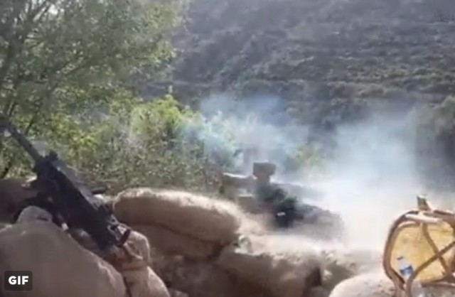 exercito livre da siria dispara ATGM contra caminhao