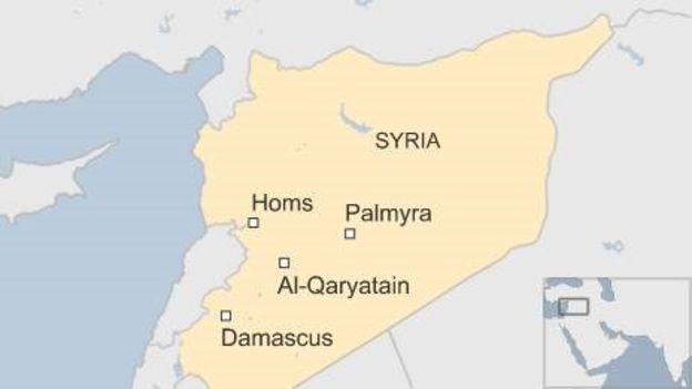 mapa siria BBC