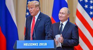 Trump e Putin no encontro em Helsinki - Yuri Kadobnov/AFP/Getty Images
