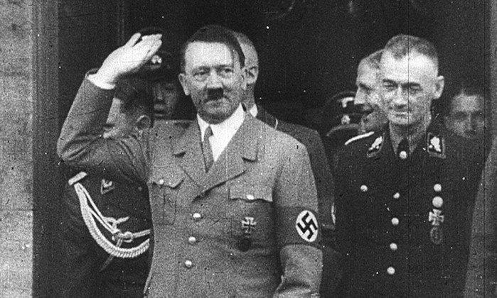 Frame de programa de TV sobre Hitler no Eurochannel - Reprodução