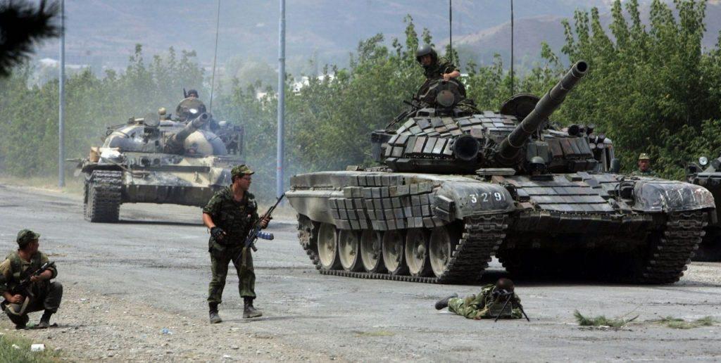 T-64 e T-72 na Ossetia, em 2008