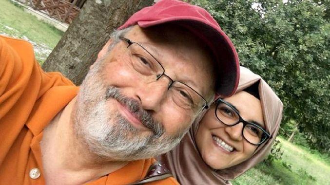 Jamal Khashoggi e sua noiva