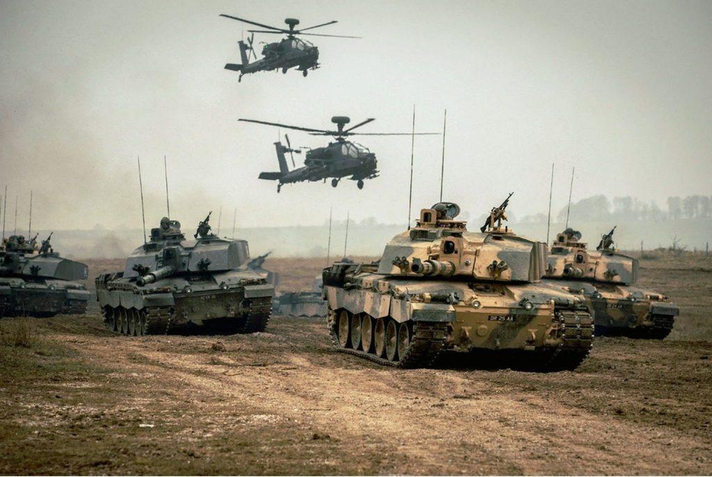 Exército Britânico em treinamento