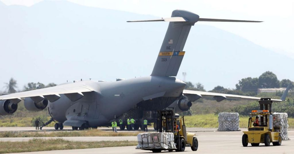 C-17 da USAF na Colômbia