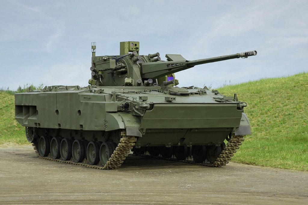 Derivatsiya-PVO com canhão de 57 mm no chassis do BMP-3